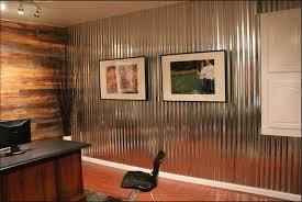 kitchen corrugated metal wall decor