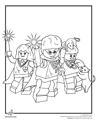 Small Picture Lego Harry Potter Coloring Page Woo Jr Kids Activities
