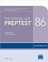 The Official Lsat Preptest 86 Nov 2018 Lsat Law School