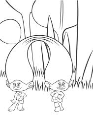 Summary Trolls Holiday Movie Coloring Pages