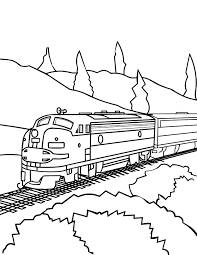 Small Picture Model Train Coloring Page Handipoints