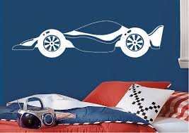 transport race car wall stickers