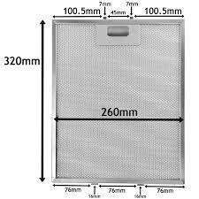 Hood Grease Filter Universal Metal Cooker Hood Aluminium Mesh Grease Filter 320mm X