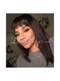 Instagram Trendy Full Lace Human Hair Bob With Bang-CR068 - Home ...