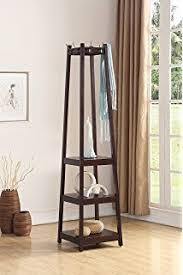 Black Coat Rack With Shelf Amazon Yaheetech Black Ladder bookcaseladder shelfwall shelf 74