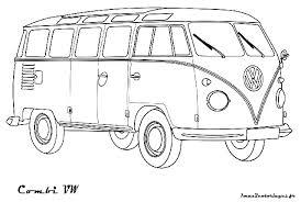 Volkswagen Bus Kleurplaat