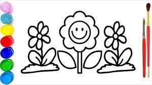 31+ Tranh tô màu bông hoa đẹp nhất dành tặng bé yêu