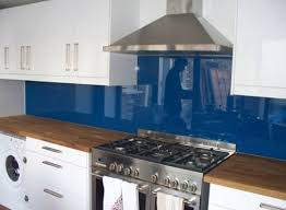 full imagas blue and white cabinet applied on the wooden floor kitchen glass backsplash ideas with