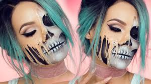 7 melting skeleton makeup