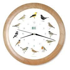 bird wall clock sound