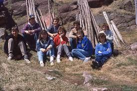 Vintage Bay de Verde - Photo #2 Taken 1985 Back Row L-R Clarence North,  Carl Quinlan, Clayton Keats, and Arlene Doyle Front Row L-R David Broaders, Dena  Riggs, Michelle Riggs, Jeanie Sutton