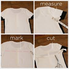 mod black and white t shirt diy pinning and cutting