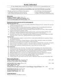 Resume Skills Teacher Assistant Objective English Preschool