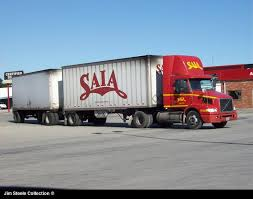 two saia units one going to their terminal and one leaving their terminal