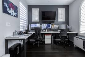 home office room design. Home Office In Grey Room Design