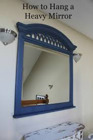 how to hang a heavy mirror or heavy object that doesn t have mounting bracket