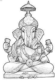 Ganesh Chaturthi Coloring Pages, Kripalu Coloring Page, Ganesh ...