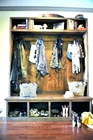 Entryway Bench With Coat Rack And Storage Interesting Bench With Coat Rack Rustic Built In Entry Way Seating Diy Storage