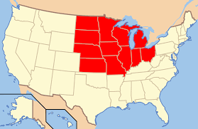map us midwest states and america  roundtripticketme