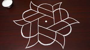 Simple And New Star Rangoli Step By Step Quick Kolam