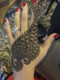 Indian Traditional Mehndi Design Hands A Peacock Indian Traditional Henna Design Created By