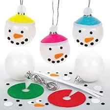Bastelsets Für Schneemann Weihnachtskugeln Für Kinder Zum
