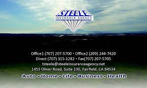 As an independent insurance agency, we work for you, not the insurance carriers. Steele Insurance Agency Inc 1411 Oliver Rd Ste 120b Fairfield Ca 94534 Usa