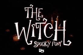 Cyber monday sale up to 40% off unlimited downloads! The Witch Spooky Font 283474 Halloween Font Bundles Spooky Font Halloween Fonts Witch Font