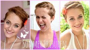 Summer Hairstyles F R Kurze Haare No Heat Youtube