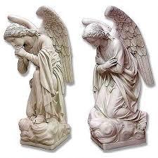 kneeling angel statues set of two