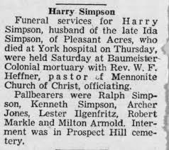 Harry Simpson obit - Newspapers.com
