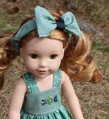 child size love doll fits 14 5 wellie wisher size dolls dress bow headband toy doll