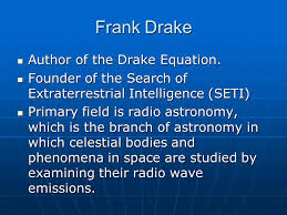 frank drake author of the drake equation author of the drake equation
