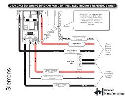 gfci breaker wiring schematic gfci spa breaker wiring as well 240v gfci breaker wiring diagram