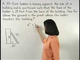 Pythagorean Theorem Word Problems -Mathhelp.com - Math Help - Youtube
