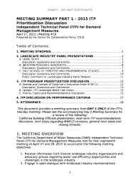 Independent Technical Panel Itp For Demand Management
