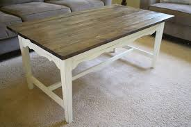 diy planked farmhouse style coffee table