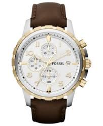 fossil leather watches for men best watchess 2017 fossil men s chronograph dean brown leather strap watch 45mm