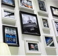 16pcs modern art love family wooden photo frames set wall clock collage stylish photo frame