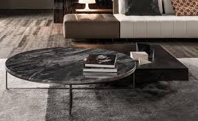 a series of new finishes contributes a fresh contemporary feel to the calder family that comprises many coffee tables and console tables available in