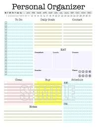 Personal Planner Template Daily Personal Planner Template