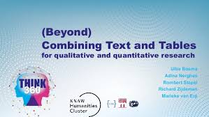 Research Tables Beyond Combining Text And Tables For Qualitative And
