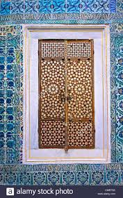 Tiled Walls iznik tiled walls & inlaid cupboard door of the the harem of the 1956 by xevi.us