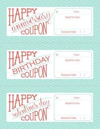 Birthday Coupon Templates Printable Free Printable Fillable Birthday Anniversary And Valentines Day
