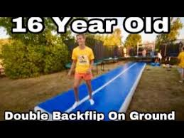 journey to double backflip on ground