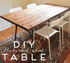 diy reclaimed wood dining table