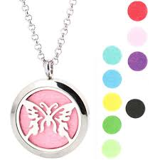 erfly premium aromatherapy essential oil diffuser locket necklace pendant