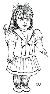 American Girl Doll Coloring Page Color Pages Girl Girl Doll Color