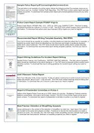 Police Shoplifting Report Writing Template Sample Pages 1