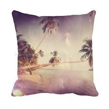 Beach Design Pillows Hawaii Beach Style Scenery Print Custom Personalised